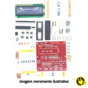 Kit DIY Gerador de Funções 8 Mhz, Onda Quad/ Trian/ Seno/ D. Serra