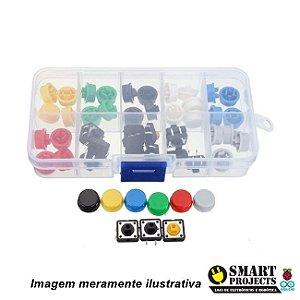 Kit Push Button com Capas Coloridas x50
