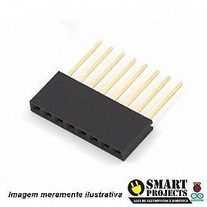 Barra de 8 pinos fêmea / Conector Empilhável para Arduino