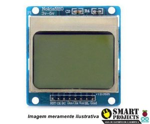 Display LCD Nokia 5110 azul 84x48