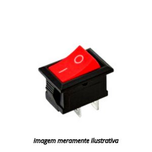 Chave Gangorra 2 Terminais  Vermelha KCD1-101