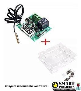 Termostato / Controle Temperatura W1209 Arduino com Case em acrílico
