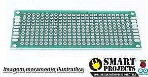 Fenolite Placa de Circuito Impresso Ilhada Dupla Face - 3x7 cm