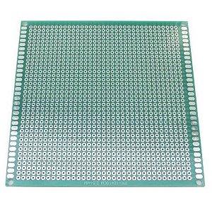 Fenolite Placa de Circuito Impresso Ilhada de Fibra de Vidro - 10x10 cm