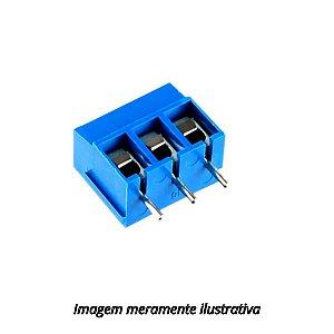 Conector Borne KRE 3 Vias Azul