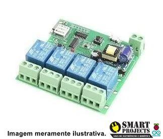 Módulo Rele Interruptores Wifi 4 canais