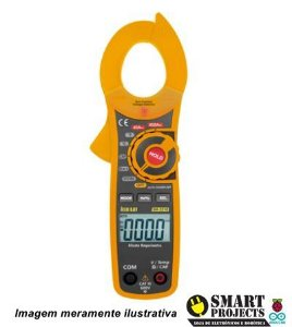 Alicate Amperímetro Digital Modelo HA-3310 Multímetro Hikari