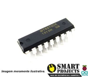 Circuito integrado MT8870DE Decodificador DTMF