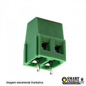 Borne KRE KF128 2 vias verde