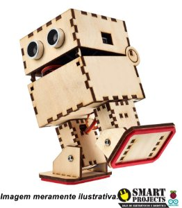 Robô Otto MDF DIY eletrônica completa