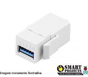 Keystone USB 3.0 Branco Fêmea Fêmea