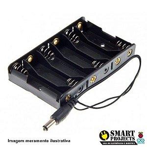Suporte Porta 6 Pilhas AA com Plug P4