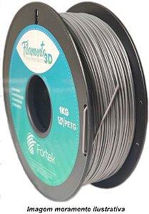 Filamento PET-G 1,75mm 1KG Prata