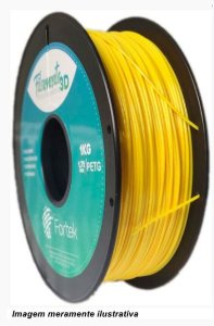 Filamento PET-G 1,75mm 1KG Amarelo