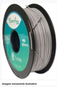 Filamento PET-G 1,75mm 1KG Cinza
