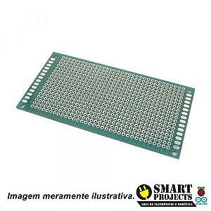 Placa de Circuito Impresso Ilhada de Fibra de Vidro - 5x10 cm