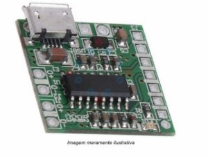 Mini Modulo Amplificador Digital PAM8403 Micro USB 3w classe D