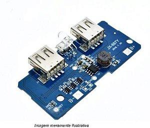 Modulo Carregador Dupla USB 5v 2a para Bateria 18650 3.7V