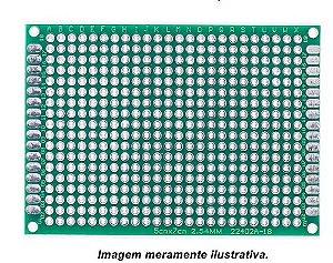 Fenolite Placa de Circuito Impresso Ilhada de Dupla Face - 5x7 cm