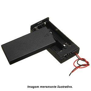 Suporte Porta 2x Baterias 18650 com Chave On/Off sem Plug