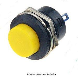 Chave Botão R13-507 2 terminais s/ trava amarelo