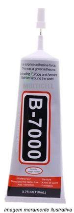 Cola Adesiva Transparent B-7000 110ml Multiuso Celular