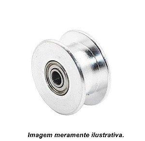 Polia Esticadora GT2 Lisa Furo 3mm p/ Correia 6mm