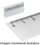 Imã De Neodímio Retangular N35 20x10x2mm
