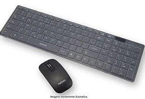 kit Teclado e mouse sem fio Exbom bk S1000 preto