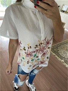 Camisa Bordada Renata Manga Curta P M G