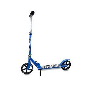 Patinete Scooter Adolescente Adulto Dobrável Reforçado até 100 Kg - Roda Aro 220mm - Cor: Azul