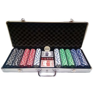 Maleta Poker Profissional 500 Fichas Holográfica sem Numeração  Abs Kit Completo