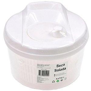 Seca Salada de Plástico Batiki Transparente com Tampa Branca 15 x 20 cm - Ref. 78915