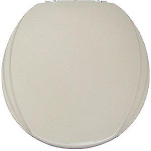 Assento Sanitário Oval Mebuki Línea Slim com Tampa Envolvente 39 x 44 x 3 cm - Cor: Caramelo - ALS04