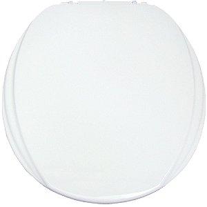 Assento Sanitário Oval Mebuki Línea Slim com Tampa Envolvente 39 x 44 x 3 cm - Cor: Branco - ALS01