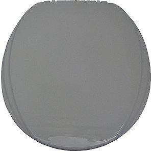 Assento Sanitário Oval Mebuki Línea Slim com Tampa Envolvente 39 x 44 x 3 cm - Cor: Cinza - ALS03