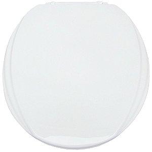 Assento Sanitário Oval Mebuki Línea Light com Tampa Envolvente 39 x 44 x 3 cm - Cor: Branco - ASS01