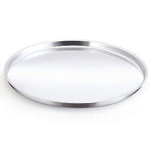 Forma de Pizza Nº 30 de Alumínio Polido - Alumínio Oliveira 31 x 1 x 31 cm - Ref. 573