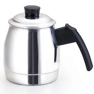 Cafeteira de Alumínio Prata Polido - Alumínio Oliveira com Capacidade de 1 Litro - Ref. 530