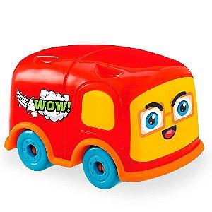 Carrinho de Brinquedo Car Toons - Mini Bus Usual Plastic Brinquedos - Ref. 354