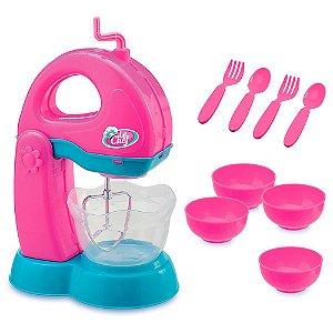 Kit Batedeira Le Chef Colorida Coleção Cook Usual Plastic Brinquedos - Ref. 312