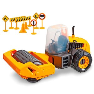 Trator Infantil Construction Machine Compactor SX Usual Plastic Brinquedos - Ref. 307