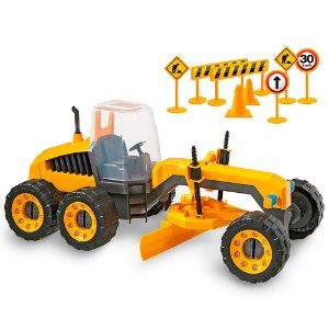 Trator Infantil Construction Machine 115 Plainer Usual Plastic Brinquedos - Ref. 306