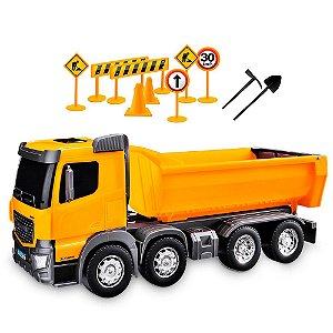Caminhão Constrution Machines Basculante Usual Plastic Brinquedos - Ref. 304