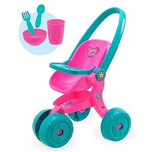 Carrinho de Boneca Baby Love Colorido Usual Plastic Brinquedos - Ref. 279