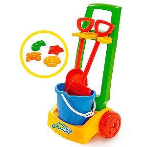 Kit Mobi Car Praia Colorido Usual Plastic Brinquedos - Ref. 240