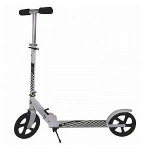 Patinete Scooter Adolescente Adulto Dobrável Reforçado até 100 Kg - Roda Aro 220mm - Cor: Branco