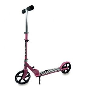 Patinete Scooter Adolescente Adulto Dobrável Reforçado até 100 Kg - Roda Aro 220mm - Cor: Rosa