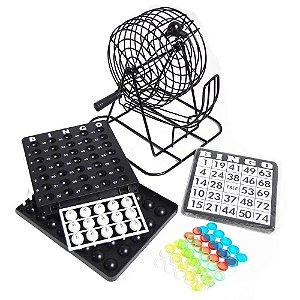 Jogo de Bingo Game On com 75 Bolas com Marcadores e Cartelas para até 18 Jogadores