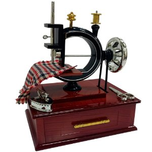 Porta Joia e Caixinha Musical Máquina de Costura 20 x 15 x 12 cm